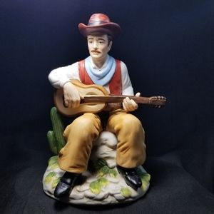 Vintage Homco porcelain cowboy playing guitar